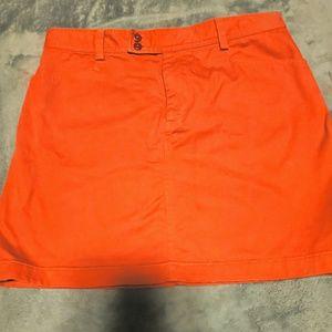Ralph Lauren Sport Orange Corduroy Skirt